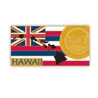 State - Hawaii State Shape Lapel Pin