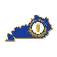 State - Kentucky State Shape Lapel Pin