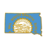 State - South Dakota state Shape Lapel Pin