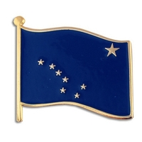 State - Alaska State Flag Pin