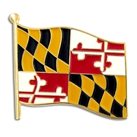 State - Maryland State Flag Pin