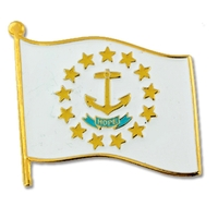 State - Rhode Island State Flag Pin