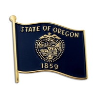 State - Oregon State Flag Pin