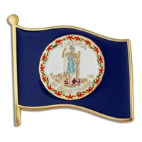 State - Virginia State Flag Pin