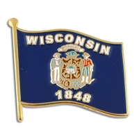 State - Wisconsin State Flag Pin