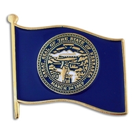 State - Nebraska State Flag Pin