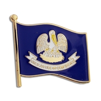 State - Louisiana State Flag Pin