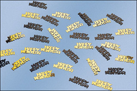 "Gold and black ""Happy New Year"" metallic confetti"