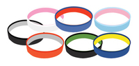 Dual Layer / Color Silicone Wristband Keychain