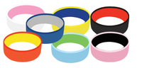 """1"""" Dual Color / Dual Layer Silicone Wristband"""