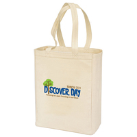 Canvas Gusset Shopping Tote Bag