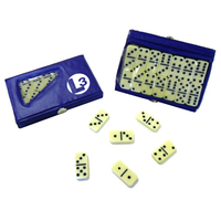 Compact 28 Piece Double Six Domino Game Set - E657