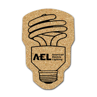 CFL Light Bulb Shaped Cork Coaster