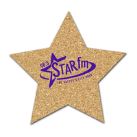 Star Shaped Cork Coaster