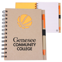EcoShapes (TM) Recycled Die Cut Notebook: Basketball