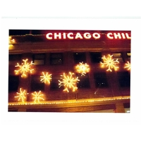 Holiday Card - Chicago's Navy Pier - Snowflakes