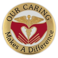 Our Caring Makes A Difference Lapel Pin