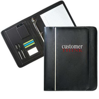 Zippered leatherette binder portfolio
