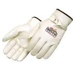 Premium grain cowhide driver glove with pull strap
