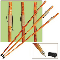 """55"""" wooden hiking/walking stick with rope-wrapped grip"""