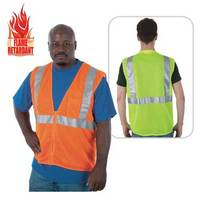 Class 2 compliant flame retardant mesh safety vest