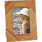 Stripe Design Bamboo Photo Frame