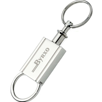 Matte Silver Finish Separating Keyring