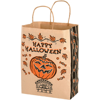 Halloween Shopper/Natural Kraft - Pumpkin Design - Flexo Ink
