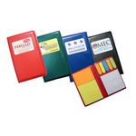 Leatherette Sticky Flag Booklet with Full Color Imprint