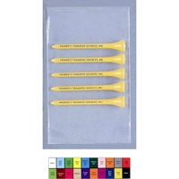 """Golf Tee Poly Bag Combo Pack With Five 2 3/4"""" Golf Tees"""