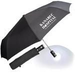 "43"" Auto Open and Close Umbrella Flashlight with Case"