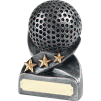 Fairways Antique Silver Finish Golf Ball Award