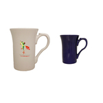 18oz Stow Funnel Mug with Thumb Rest, four color process