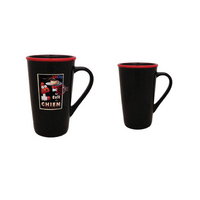 16oz Black Horizon Cafe Latte Mug with Halo, four color