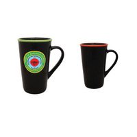 16oz Black Horizon Cafe Latte Mug with Halo, spot color
