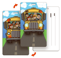 Baggage tag School Bus Back to School