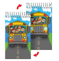 Mini Notebook or Notepad School Bus Back to School (blank)