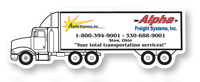 Magnet - Semi Truck - Full Color