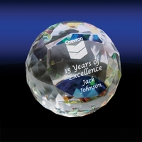 Cut Edged Crystal Sphere