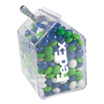 Candy Bin Dispenser with Corporate Colored Chocolates Candy