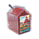 Candy Bin Dispenser with Cinnamon Red Hots Candy