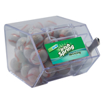 Large Candy Bin Dispenser with Chocolate Sports Balls