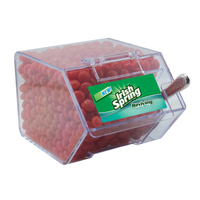 Large Candy Bin Dispenser with Cinnamon Red Hots Candy