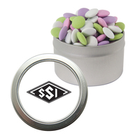 Silver Candy Window Tin with Mint Lentils
