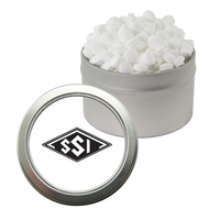Silver Candy Window Tin with Sugar-Free Mints