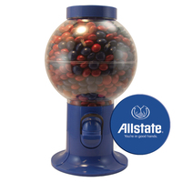 Gumball Machine Dispenser with Corporate Color Chocolates