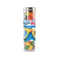 Large Gourmet Plastic Candy Tube with Jelly Beans