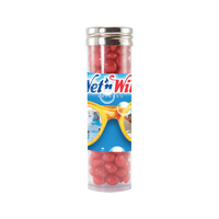 Gourmet Plastic Candy Tube with Cinnamon Red Hots