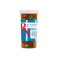 Pill Bottle w/ Chocolate Littles Compare to M&M(r) Candy