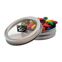 Silver Short Round Tin with Chocolate Littles